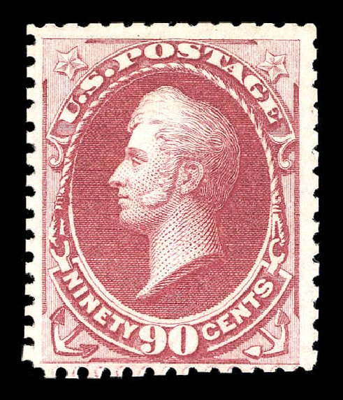 Cost of US Stamp Scott Catalogue 177: 1875 90c Perry Special Printing. Matthew Bennett International, Sep 2012, Sale 345, Lot 215