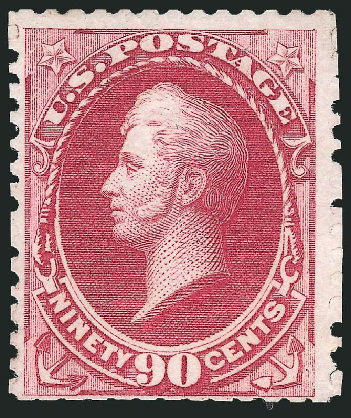 Cost of US Stamp Scott Catalogue 177: 1875 90c Perry Special Printing. Robert Siegel Auction Galleries, Nov 2013, Sale 1057, Lot 762