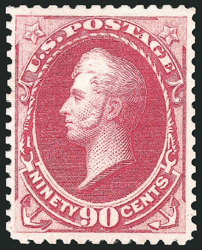 Values of US Stamps Scott Cat. 177 - 90c 1875 Perry Special Printing. Robert Siegel Auction Galleries, Apr 2015, Sale 1096, Lot 322