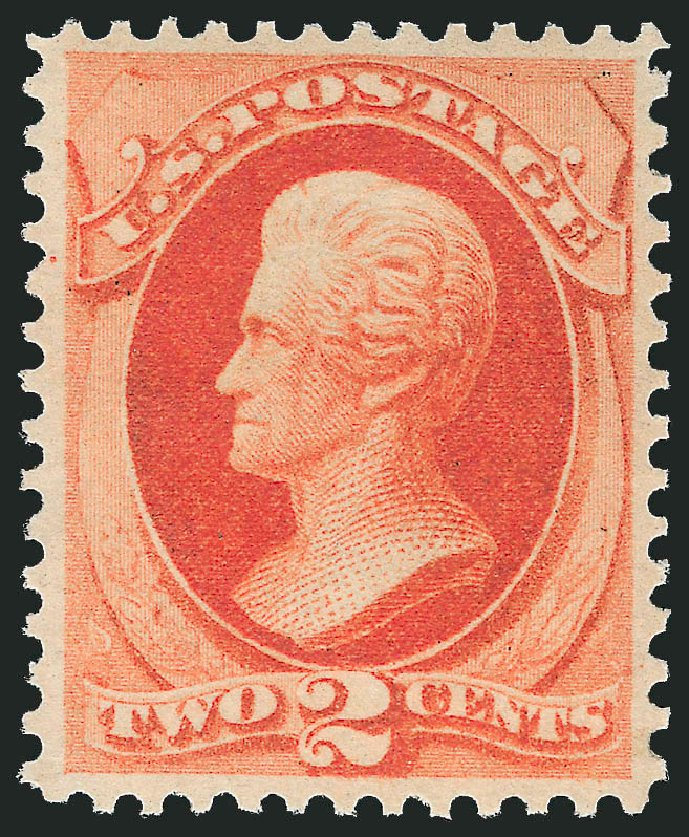 US Stamp Value Scott Catalogue # 178 - 2c 1875 Jackson Continental. Robert Siegel Auction Galleries, Apr 2015, Sale 1096, Lot 309