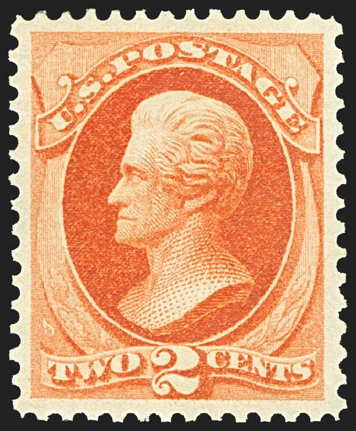 Values of US Stamps Scott Catalog # 178 - 1875 2c Jackson Continental. Robert Siegel Auction Galleries, Jul 2015, Sale 1107, Lot 280