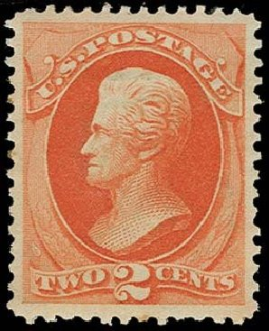 Prices of US Stamp Scott Catalog 178 - 2c 1875 Jackson Continental. H.R. Harmer, Oct 2014, Sale 3006, Lot 1223