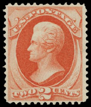 Costs of US Stamp Scott Cat. 178: 1875 2c Jackson Continental. Daniel Kelleher Auctions, May 2015, Sale 669, Lot 2663