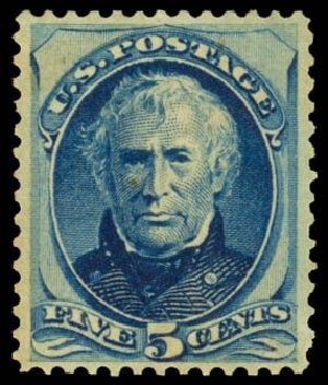 Values of US Stamp Scott #179 - 5c 1875 Taylor Continental. Daniel Kelleher Auctions, Dec 2014, Sale 661, Lot 157