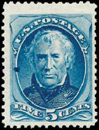 US Stamp Value Scott # 179 - 5c 1875 Taylor Continental. Schuyler J. Rumsey Philatelic Auctions, Apr 2015, Sale 60, Lot 2175