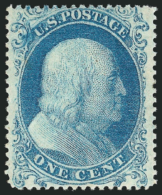 Cost of US Stamps Scott Catalog #18: 1861 1c Franklin. Robert Siegel Auction Galleries, Apr 2015, Sale 1096, Lot 37