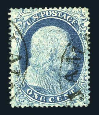 US Stamp Value Scott #18: 1861 1c Franklin. Harmer-Schau Auction Galleries, Aug 2015, Sale 106, Lot 1318