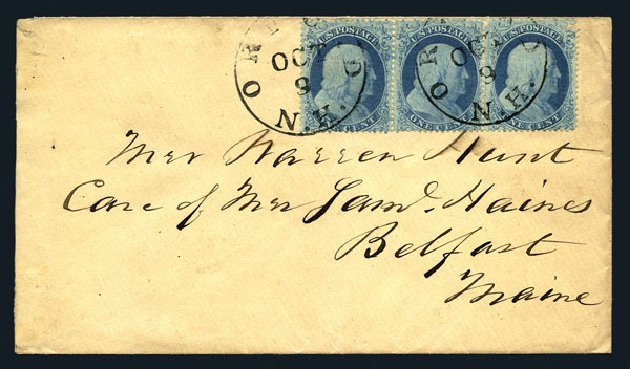 Prices of US Stamp Scott Catalogue # 18: 1861 1c Franklin. Harmer-Schau Auction Galleries, Aug 2015, Sale 106, Lot 1319