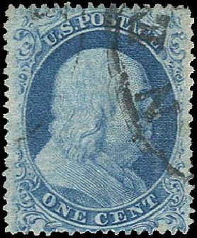 US Stamp Prices Scott Cat. # 18 - 1861 1c Franklin. Regency-Superior, Aug 2015, Sale 112, Lot 89