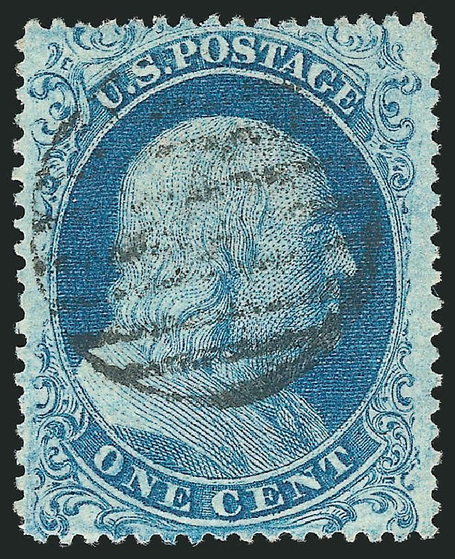 US Stamp Values Scott Catalog 18 - 1c 1861 Franklin. Robert Siegel Auction Galleries, Apr 2015, Sale 1096, Lot 39