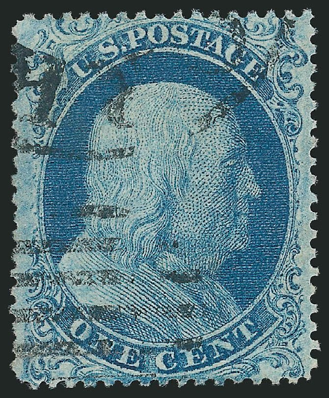 Value of US Stamps Scott Catalog 18: 1861 1c Franklin. Robert Siegel Auction Galleries, Feb 2015, Sale 1092, Lot 1021