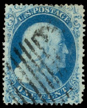 Costs of US Stamp Scott #18 - 1861 1c Franklin. Daniel Kelleher Auctions, Aug 2015, Sale 672, Lot 2164