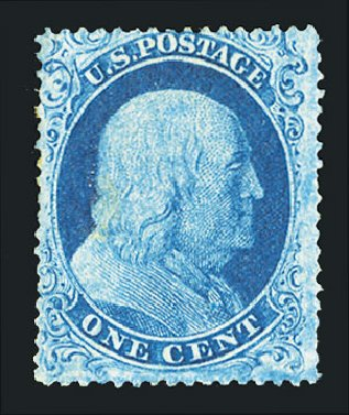 Price of US Stamps Scott Catalog #18: 1c 1861 Franklin. Cherrystone Auctions, Jul 2015, Sale 201507, Lot 2015