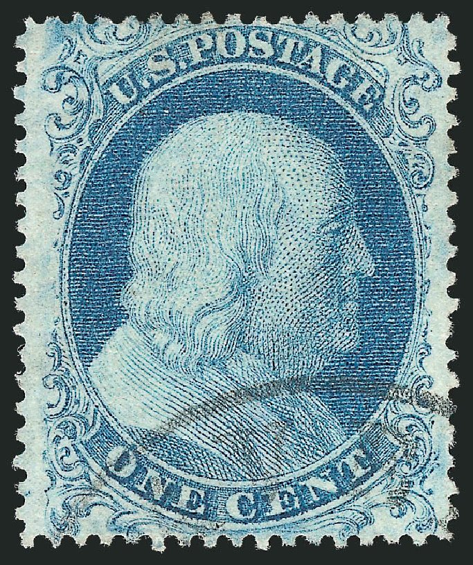 Us Stamp Price Scott Catalogue 18 1861 1c Franklin