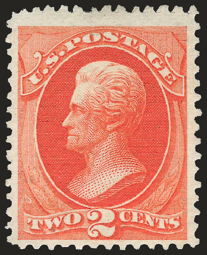 US Stamps Values Scott Catalogue #180: 1875 2c Jackson Special Printing. Robert Siegel Auction Galleries, Apr 2009, Sale 972, Lot 3179