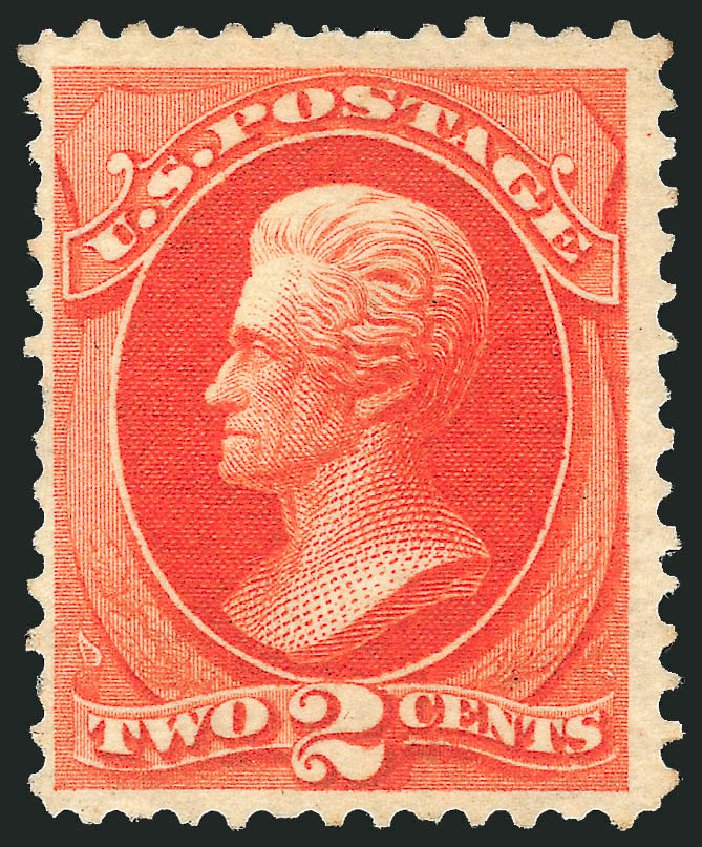 Cost of US Stamp Scott Catalogue 180: 1875 2c Jackson Special Printing. Robert Siegel Auction Galleries, Apr 2015, Sale 1096, Lot 323