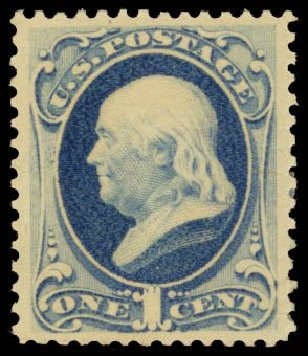 US Stamps Value Scott Cat. 182 - 1c 1879 Franklin. Daniel Kelleher Auctions, May 2014, Sale 653, Lot 2127