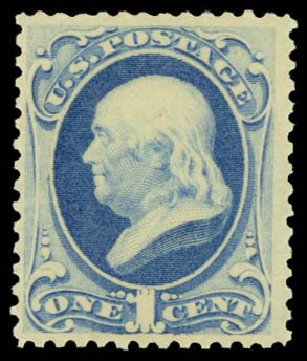 US Stamps Value Scott Catalogue #182 - 1c 1879 Franklin. Daniel Kelleher Auctions, Dec 2014, Sale 661, Lot 158
