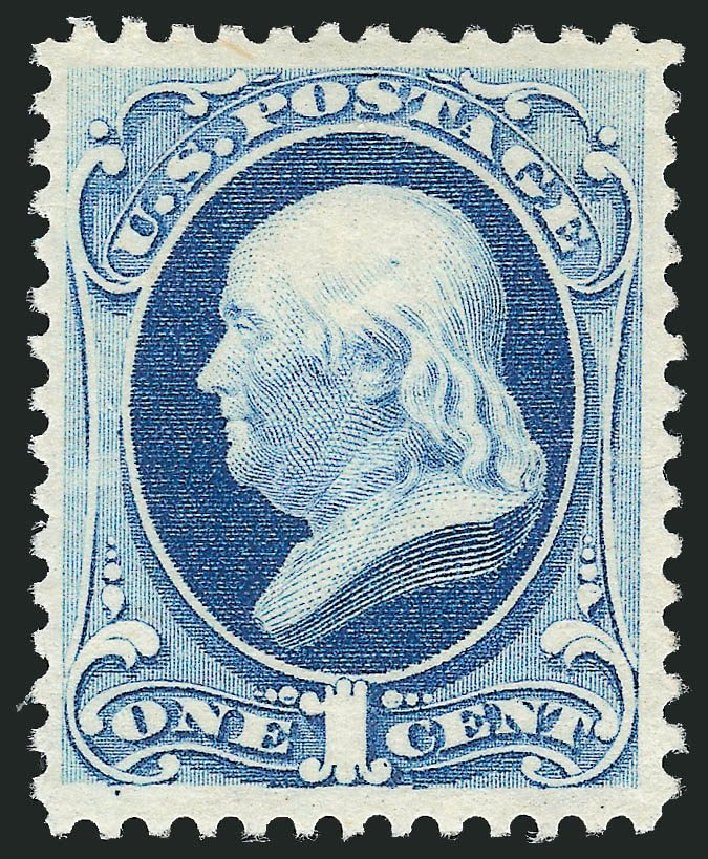 Cost of US Stamp Scott Catalogue #182: 1c 1879 Franklin. Robert Siegel Auction Galleries, Dec 2014, Sale 1090, Lot 1340