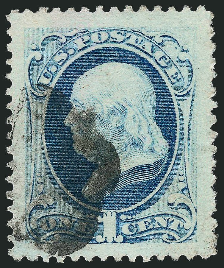 Costs of US Stamps Scott Cat. 182: 1c 1879 Franklin. Robert Siegel Auction Galleries, Nov 2014, Sale 1084, Lot 3445
