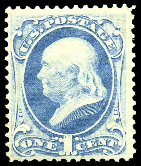Price of US Stamps Scott Catalogue #182 - 1c 1879 Franklin. Matthew Bennett International, May 2014, Sale 350, Lot 296
