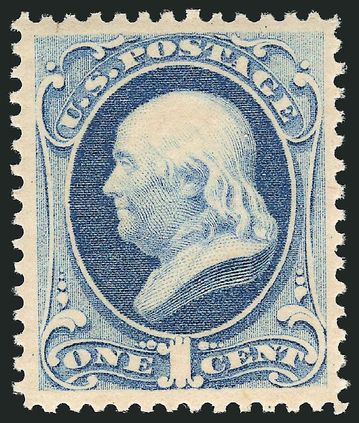 Values of US Stamps Scott Catalog 182: 1879 1c Franklin. Robert Siegel Auction Galleries, Feb 2015, Sale 1092, Lot 1136