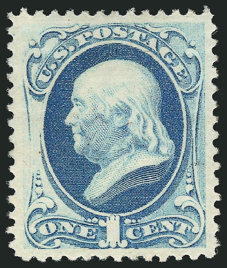 Cost of US Stamps Scott Catalog 182: 1879 1c Franklin. Robert Siegel Auction Galleries, Apr 2015, Sale 1096, Lot 326