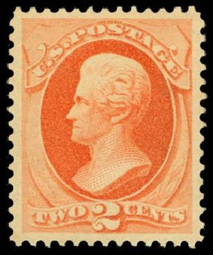 Value of US Stamps Scott Catalogue # 183 - 1879 2c Jackson. Daniel Kelleher Auctions, May 2014, Sale 653, Lot 2128