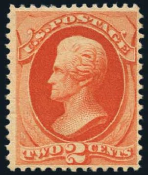 US Stamp Prices Scott Catalogue 183: 1879 2c Jackson. Harmer-Schau Auction Galleries, Nov 2014, Sale 103, Lot 105