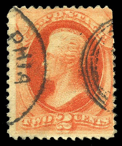 US Stamp Value Scott # 183 - 2c 1879 Jackson. Matthew Bennett International, Feb 2015, Sale 351, Lot 132