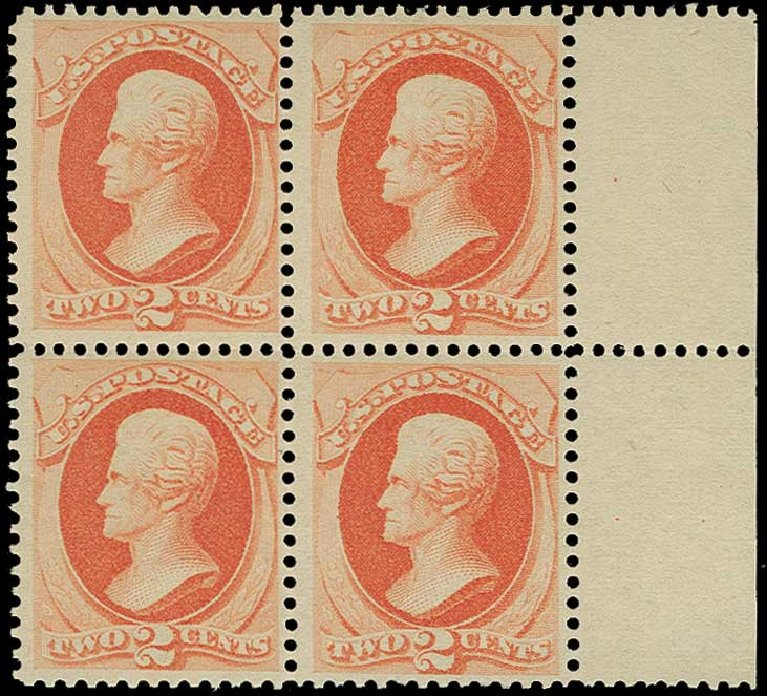 US Stamps Price Scott Cat. 183: 1879 2c Jackson. H.R. Harmer, Jun 2015, Sale 3007, Lot 3226