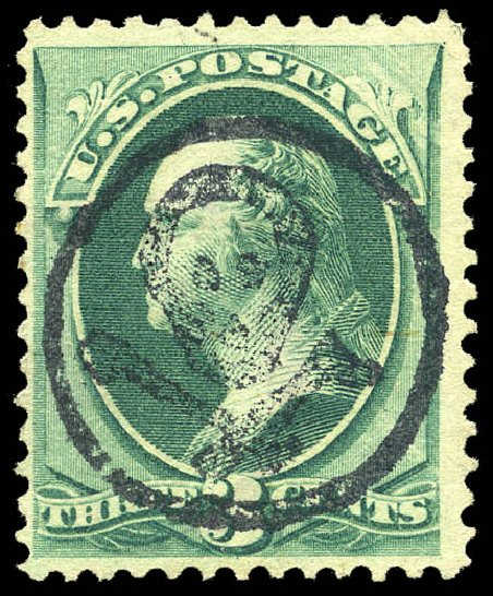 Price of US Stamps Scott Catalogue # 184: 1879 3c Washington. Matthew Bennett International, May 2014, Sale 350, Lot 297