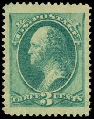 US Stamps Prices Scott 184: 1879 3c Washington. Daniel Kelleher Auctions, May 2014, Sale 652, Lot 307