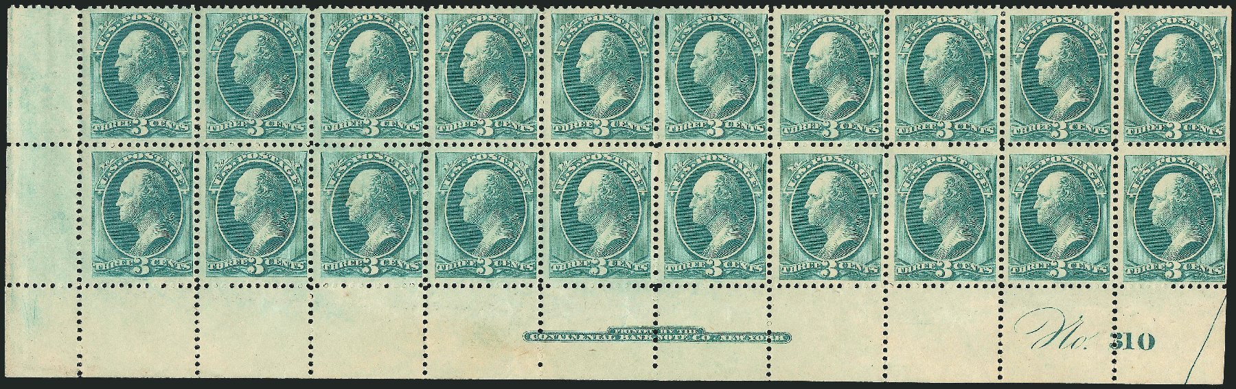 US Stamps Value Scott Cat. 184 - 3c 1879 Washington. Robert Siegel Auction Galleries, Nov 2014, Sale 1084, Lot 3447