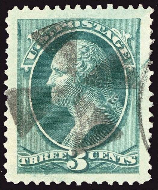 US Stamp Price Scott Catalogue 184 - 1879 3c Washington. Spink Shreves Galleries, Jan 2014, Sale 146, Lot 277