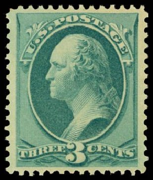 Price of US Stamp Scott Catalog # 184 - 1879 3c Washington. Daniel Kelleher Auctions, May 2014, Sale 653, Lot 2129