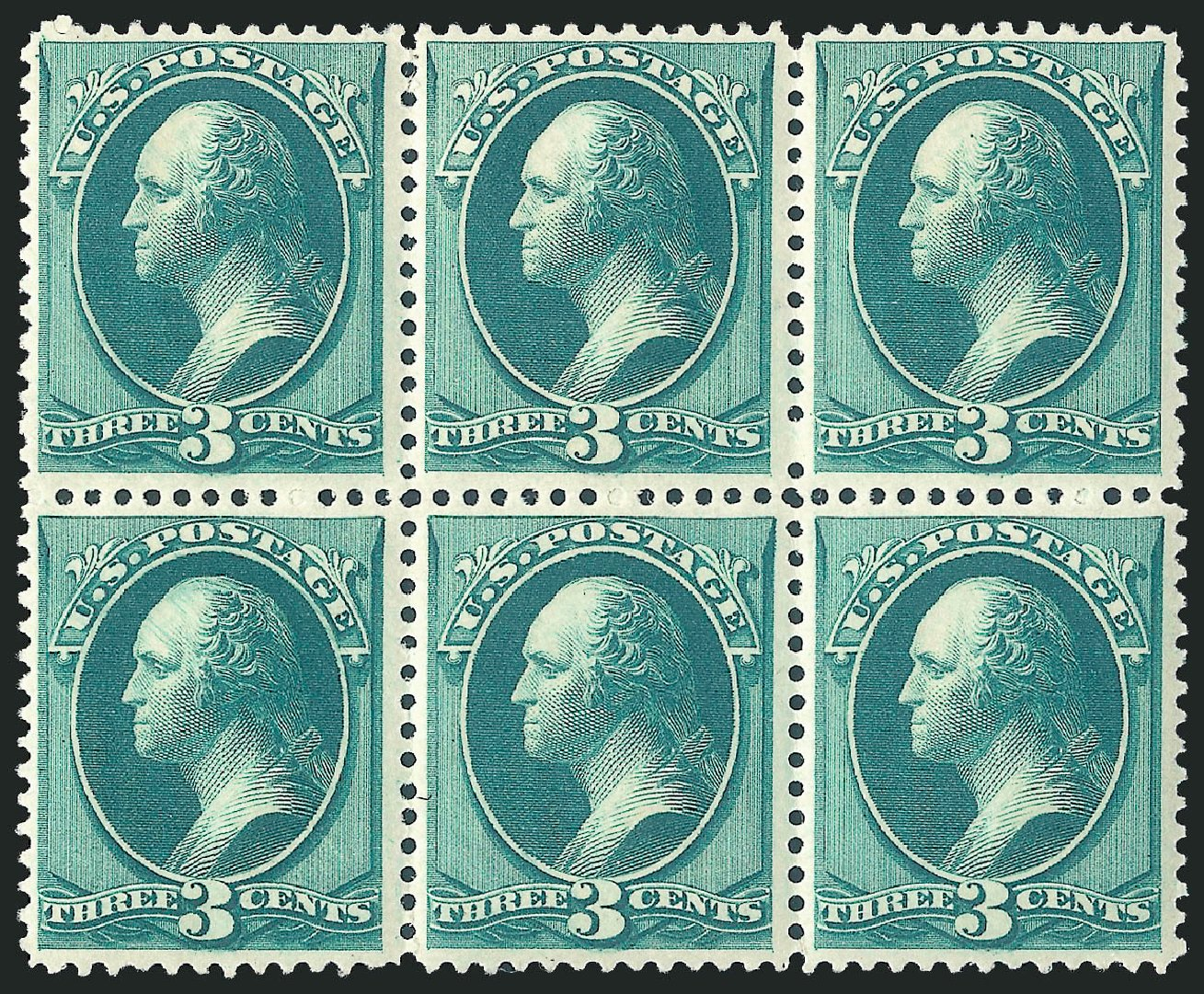 US Stamp Value Scott Catalog #184 - 3c 1879 Washington. Robert Siegel Auction Galleries, Apr 2015, Sale 1096, Lot 329