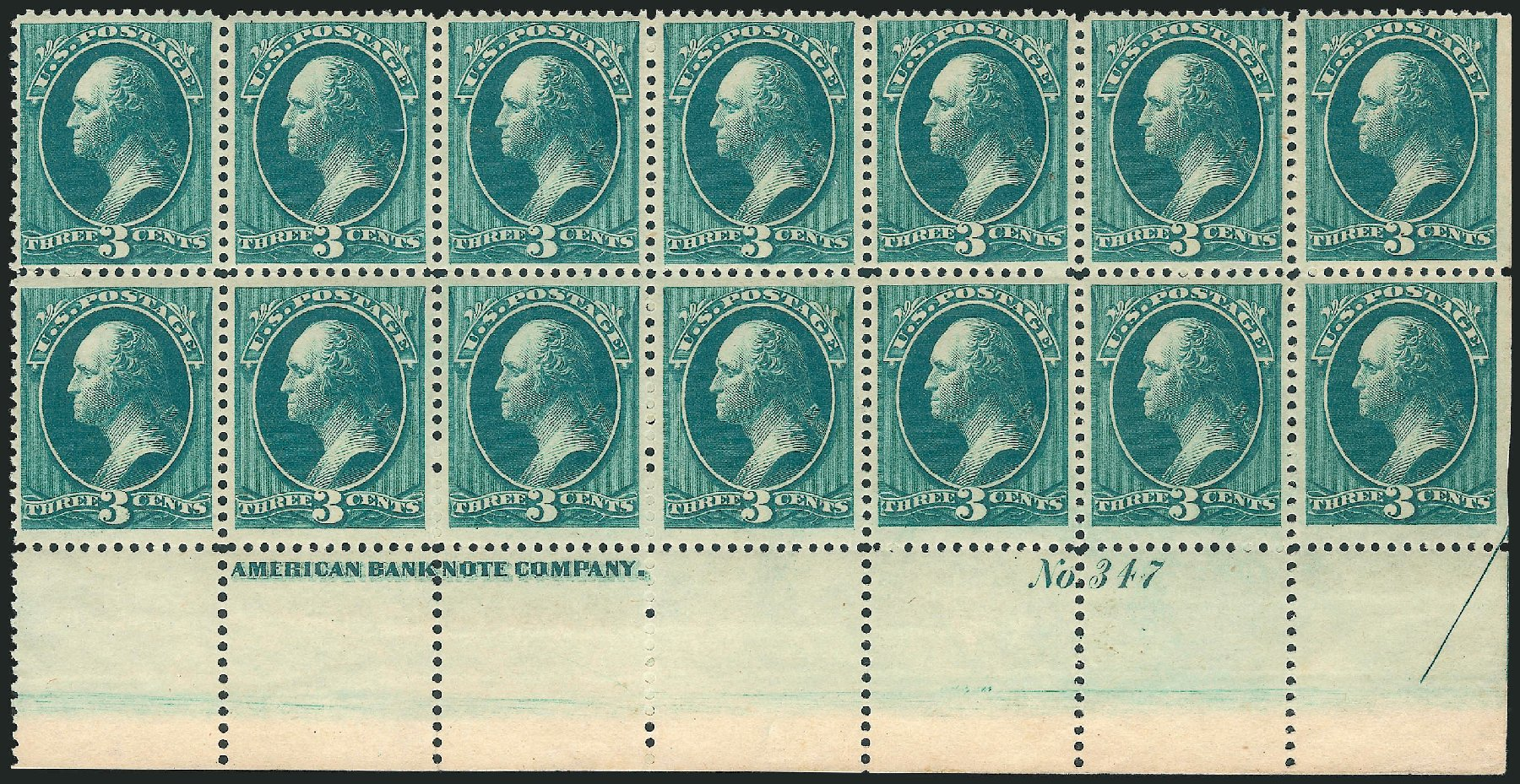 Value of US Stamps Scott Catalogue 184: 1879 3c Washington. Robert Siegel Auction Galleries, Apr 2015, Sale 1096, Lot 330
