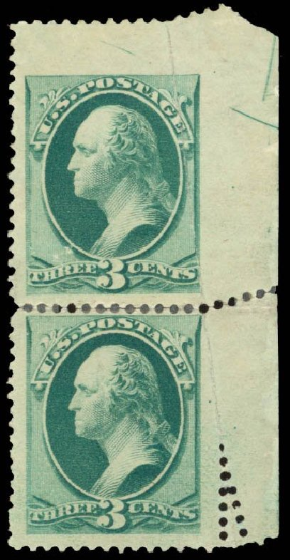 US Stamp Price Scott Cat. #184: 1879 3c Washington. Daniel Kelleher Auctions, Sep 2014, Sale 655, Lot 291