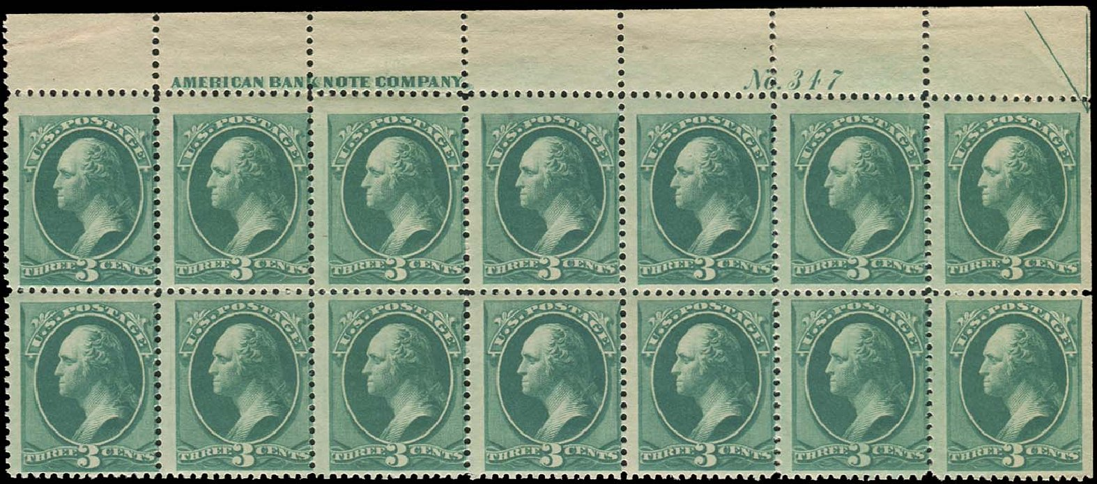 Price of US Stamps Scott Cat. 184 - 3c 1879 Washington. Regency-Superior, Aug 2015, Sale 112, Lot 1276