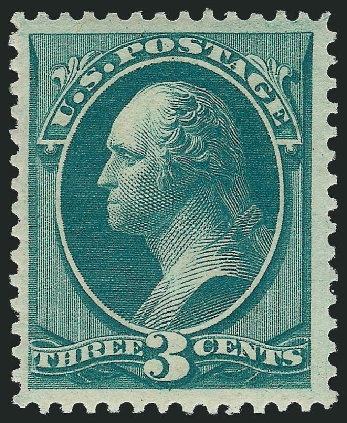Prices of US Stamps Scott Cat. #184: 1879 3c Washington. Robert Siegel Auction Galleries, Apr 2014, Sale 1068, Lot 156