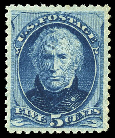 US Stamps Value Scott Cat. #185 - 5c 1879 Taylor. Matthew Bennett International, May 2014, Sale 350, Lot 298