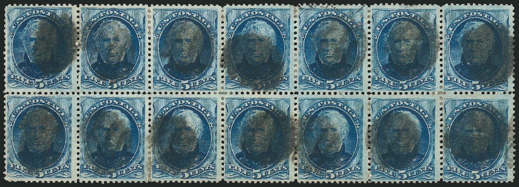 US Stamp Prices Scott Catalogue #185: 5c 1879 Taylor. Robert Siegel Auction Galleries, Nov 2014, Sale 1084, Lot 3448