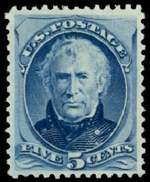 US Stamps Price Scott 185 - 1879 5c Taylor. Daniel Kelleher Auctions, May 2014, Sale 653, Lot 2130