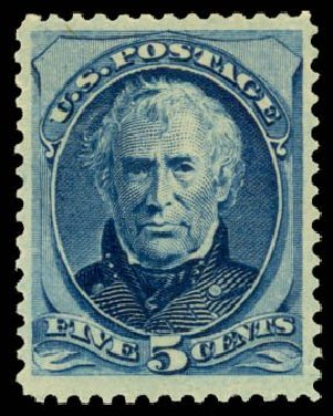 Cost of US Stamps Scott Catalogue 185 - 5c 1879 Taylor. Daniel Kelleher Auctions, Dec 2014, Sale 661, Lot 161