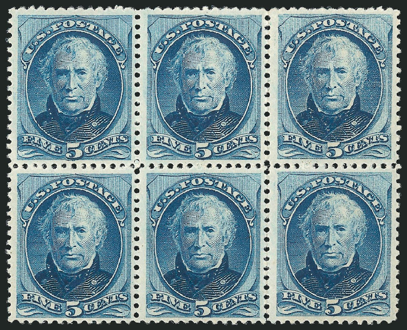 Costs of US Stamp Scott Catalog 185: 1879 5c Taylor. Robert Siegel Auction Galleries, Apr 2015, Sale 1096, Lot 331