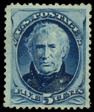 US Stamp Price Scott Catalog # 185: 1879 5c Taylor. Daniel Kelleher Auctions, Jan 2015, Sale 663, Lot 1413