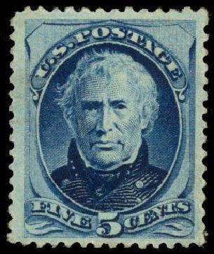 US Stamp Price Scott Catalog # 185: 1879 5c Taylor. Daniel Kelleher Auctions, Jan 2015, Sale 663, Lot 1413