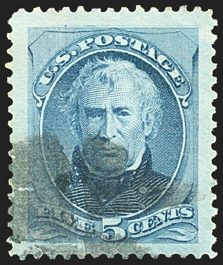 Values of US Stamp Scott Catalog 185: 5c 1879 Taylor. Robert Siegel Auction Galleries, Jul 2015, Sale 1107, Lot 283