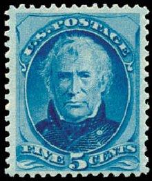 Value of US Stamp Scott Cat. # 185: 1879 5c Taylor. Schuyler J. Rumsey Philatelic Auctions, Apr 2015, Sale 60, Lot 2176